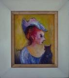 Femme au chapeau [au chat-peau]