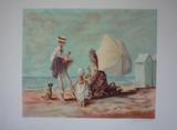 En famille à la plage