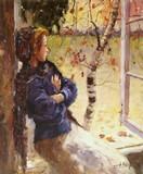 Jeune femme à la fenêtre