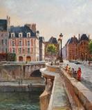 Paris - Promeneurs au Pont Neuf
