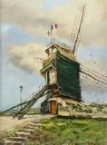 Paris - Le moulin de la Galette à Montmartre