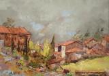 Village de Provence sous le mistral