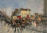 Paris - Attelage place Clichy