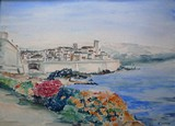 Vue d'Antibes - Les remparts
