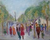 Paris - Promeneurs à la Bastille