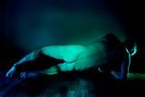Eclats de vert, ombres bleues #2