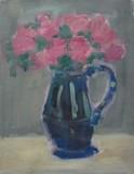 Bouquet au pichet bleu