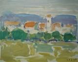 Paysage de Provence - Le village