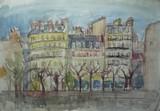 Vue de Paris - Les quais de Seine