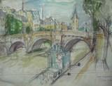 Vue de Paris - La Seine et le Pont Neuf