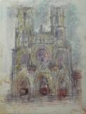 Vue de Paris - La cathédrale Notre-Dame