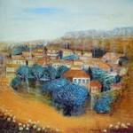 Paysage de Provence - Village du Gard