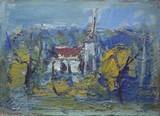 Paysage à l'église