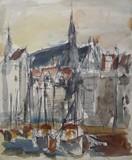 Paysage de Normandie - Vue de Honfleur