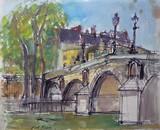 Vue de Paris - Le Pont Marie
