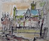 Vue de Paris - L'église Saint-Gervais