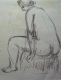 Nu féminin assis