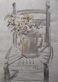 Bouquet de fleurs sur une chaise #2