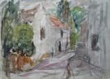 Rue de village | au verso : Moulin-sous-Touvent