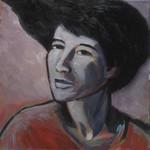 Portrait au corsage rouge