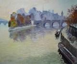 Paris - Brume sur la Seine à l'automne