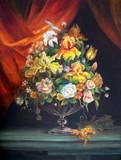 Bouquet de fleurs aux draperies