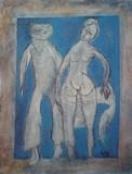 Personnages en  bleu | Poster