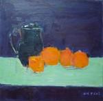 Nature morte au pichet et aux oranges
