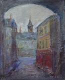 Une ruelle du village de Mazan (Vaucluse)