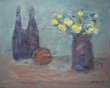 Nature morte aux bouteilles et au bouquet