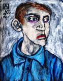Jeune homme à la chemise bleue