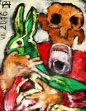 Le lapin vert et l'homme qui se tait