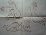 Etude de nu féminin à l'atelier