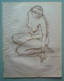 Etude de nu à l'atelier