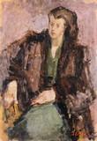 Jeune femme au manteau de fourrure