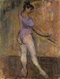 Danseuse classique à la barre