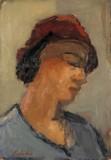Jeune femme au chapeau