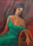 Jeune femme au jasmin