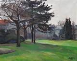 Paris, arbres dans le parc