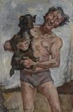 Homme au chien