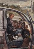 Le chat Petitou dans la voiture
